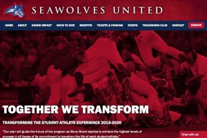 screenshot of athletics website