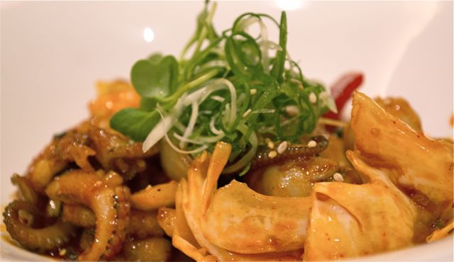 Nakji bokkeum, a stir fried octopus dish that is usually served spicy. CHRISTOPHER CAMERON / THE STATESMAN