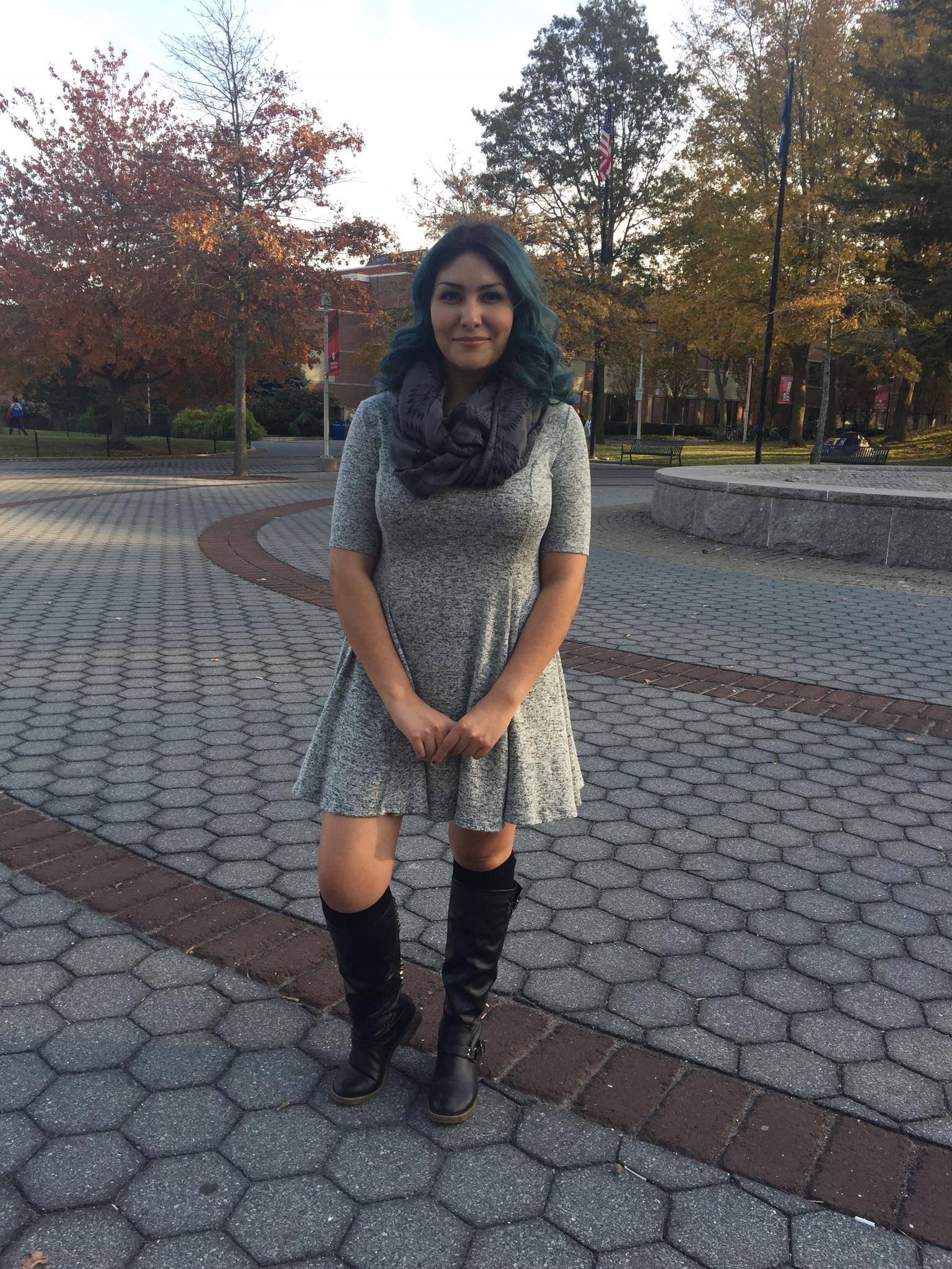 "Alexandra Arana, senior psychology major. ""If you like it, wear it. Who cares."" CHEREESE CROSS/THE STATESMAN"