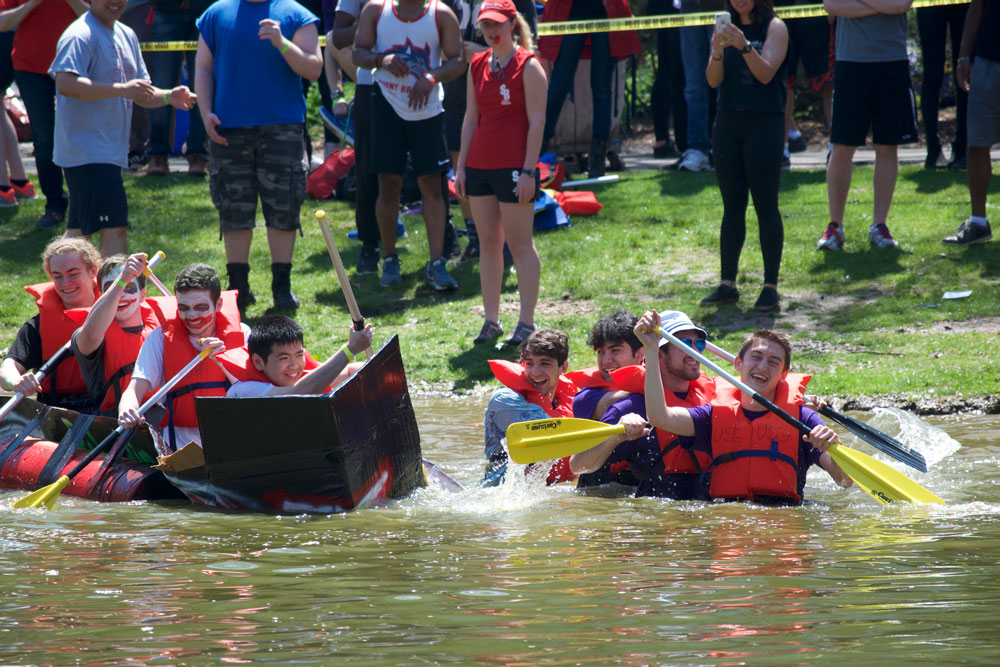"""The theme for this year's Roth Regatta was """"Superheroes vs. Supervillains."""" LUIS RUIZ DOMINGUEZ/THE STATESMAN"""